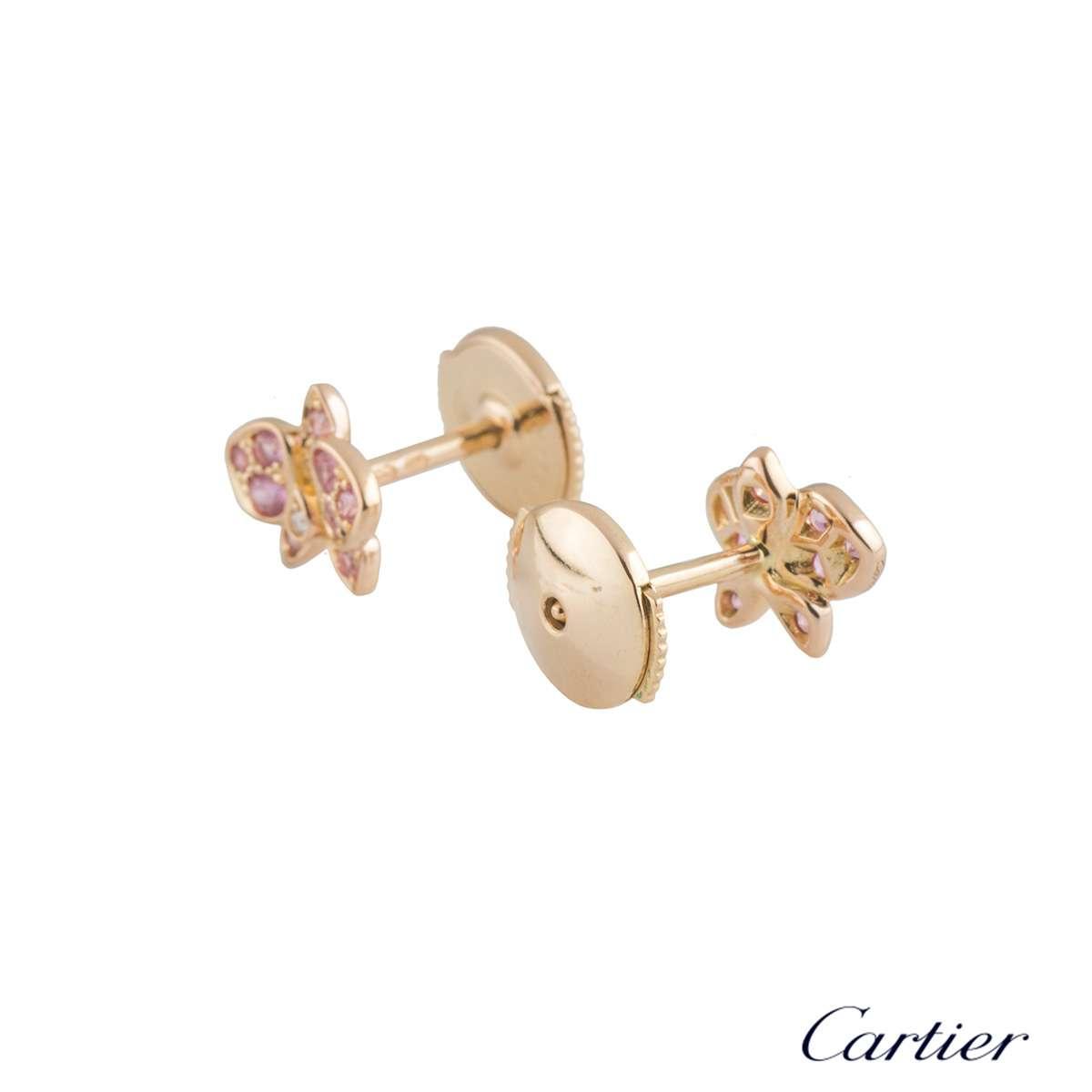 Cartier Rose Gold Caresse DOrchidées Earrings B8044600